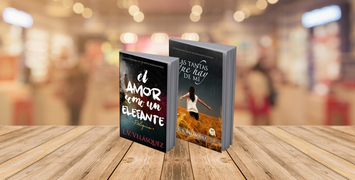 """Header mis novelas wordpress """"Las tantas que hay de mi"""" """"El amor como un elefante"""""""
